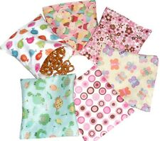 Reusable snack and sandwich bag , Set of 6 pcs - Girl pattern