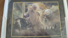 Bradford Exchange Lord of The Rings Gandalf Wall Mural Plate Second Issue, NEW