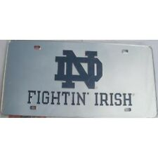 NOTRE DAME FIGHTIN IRISH LASER ND  METAL LICENSE PLATE USA MADE AUTO CAR TAG