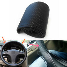 1* Car Truck Leather Steering Wheel Cover With Needles and Black Thread DIY