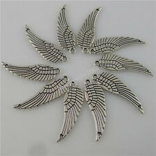 12339 30PCS Mini Angel Elf Insects Wings Connector Pendant Alloy Vintage Silver