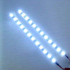 "2x White 12 LEDs 30cm/11.8"" 5050 SMD LED Strip Light Waterproof 12V DIY Car Auto"