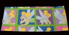 "Disney TINKERBELL Colorful Bright Squares 3-1/4"" Rod Pkt Valance 84"" x 15"" NWOT"