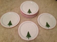 Waechtersbach Spain 12 White Christmas Tree Snow Dinner Plates