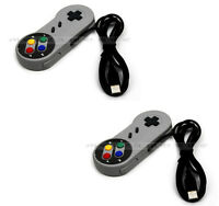 A Pair Of PC USB Retro Classic Gaming Controller Gamepad Snes Style Pad