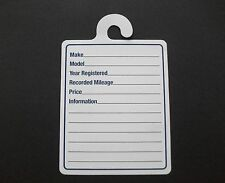 CAR FOR SALE MIRROR HANGER SILENT SALESMAN SPECIFICATION CARDS PACK OF 50