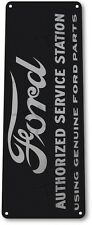"TIN SIGN ""Ford Authorized Station"" Metal Decor Auto Garage Shop Store A066 #"