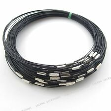 10x Retail Black Steel Memory Wire Cord Necklace Choker Fit Jewelry Beads Making