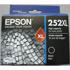 Epson GENUINE 252XL Black Ink (RETAIL BOX) (T252XL120) for WorkForce WF-3620