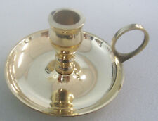 "Brass Chime Candle Holder with Finger Ring (Chamberstick) for Candles 4"" x 1/2"""