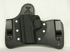 FoxX Leather & Kydex IWB SOB Hybrid Holster CZ 75 P-07 Black Right w/comfort pad