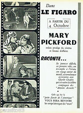 PUBLICITE ADVERTISING 026  1954  MARY PICKFORD  enfant prodige du cinéma