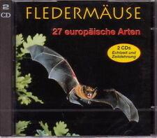 2 CDs:Stimmen der Fledermäuse; 27 europäische Fledermaus-Arten (Michel Barataud)