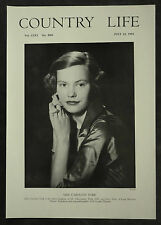 Caroline York Long Marston Manor Yorkshire 1954 1 Page Photo Article