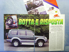 AUTO996-RITAGLIO/CLIPPING/NEWS-1996-TOYOTA LAND CRUISER PRADO - 3 fogli