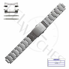 Genuine SEIKO 3304JZ 18mm Stainless Steel Band + Pins | SNK Military Watch Strap