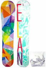 NEW $550 Women's Elan Lira Snowboard 152CM + M3 Solstice Bindings ladies Combo