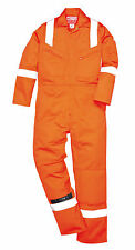 """Portwest FR50 Anti Static BizFlame Orange Safety Overall Sz 40-41"""" L31"""" Coverall"""