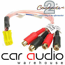 Becker Car Stereo Radio Yellow Mini ISO Amplifier RCA Phono Line Output Lead