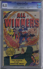 All Winners Comics #21 Timely1946-47 CGC 4.5 (VG +) All Winners Squad,SCARCE!!