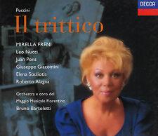 PUCCINI: IL TRITTICO. Mirella Freni, Bruno Bartoletti, 3 CDs, wie neu