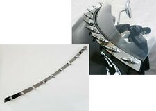 Chrome Spiked Windscreen Windshield Accent Trim For 1996-2013 Harley Touring