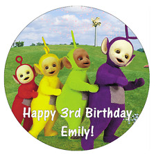 Teletubbies Personalised Edible Cake Topper Wafer Paper 7.5""