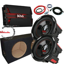 "BOSS Audio Phantom Twin 10"" BASS pacchetto completo 5000w Auto Sub Amp & Pacchetto"