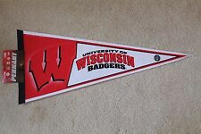 WISCONSIN BADGERS full-size stadium PENNANT by Rico Industries - New w/ Tags