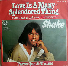 "7"" 1977! SHAKE Love Is A Many Splendored Thing /MINT-?"