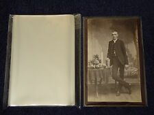 100 CABINET CARD Cab Photo SLEEVES Pack/Lot ARCHIVAL SAFE Quality 1.5 Mil Poly