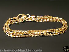 "Italian Mens Women 14k Yellow Gold Necklace Franco Rope Chain 2.5mm 24"" 24 inch"