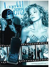 Publicité Advertising 1991 Eau de Toilette pour Homme Lagerfeld Photo