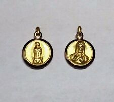 10 Karat Yellow Gold Our Lady of Guadalupe Scapular 14mm Medal