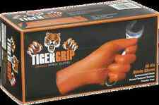 Tiger Grip Hi-Viz Orange Nitrile Gloves box of 100 Superior Quality Medium