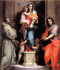 """Oil painting andrea del sarto - madonna of the harpies The Mary with child 36"""""""