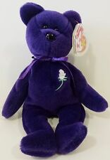 Ty Beanie Baby ~ PRINCESS (Diana) Bear RARE 1st EDITION! 1997 PVC Pellets! MINT!