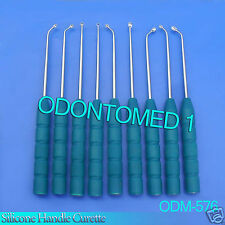 9 Pcs Silicone Handle Curette Set-ODM-576