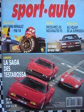 revue SPORT AUTO 1992 FERRARI 500 & 512 TR / RALLYE MONTE CARLO / VW GOLF VR6