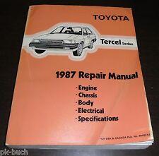 Reparaturanleitung Workshop Repair Manual Toyota Tercel Sedan L30 Model 1987