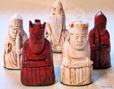 "ISLE OF LEWIS CHESS MEN - HAND CAST COLLECTORS' SET -  K= 3.5"" (rosewood) 706"