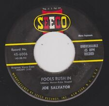 JOE SALVATOR {50s Popcorn Crooner} Fools Rush In / Tina ♫HEAR