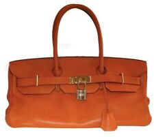 HERMES JPG BIRKIN 42 CM  ORANGE POTIRON CLEMENCE SHOULDER BAG - USED TWICE!