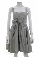 Twenty8Twelve by S.Miller Capulet Cotton-Silk Blend Dress / Grey / RRP: £300.00