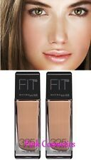 2 x Bulk MAYBELLINE Fit Me Liquid Foundation Makeup SPF 15 in 325 Cream Beige
