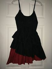 Heavy Red Gothic Rapture Of Contention Dress Medium