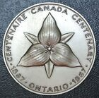 1867-1967 ONTARIO - Canada Centenary Medal - Large - 50mm Dia. 4mm Thick - HUGE
