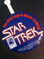 1989 Star Trek TOS Metal Bookmark /Badge Paramount Pictures Pocket Books promo