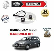FOR PEUGEOT 807 2.0 HDi 06/2006-> NEW GATES TIMING CAM BELT TENSIONER KIT