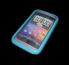 NEW BLUE SOFT PLASTIC HTC WILDFIRE G13 G8S SMARTPHONE CASE SUPER FAST SHIPPING